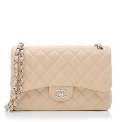 Chanel Lambskin Classic Jumbo Double Flap Bag