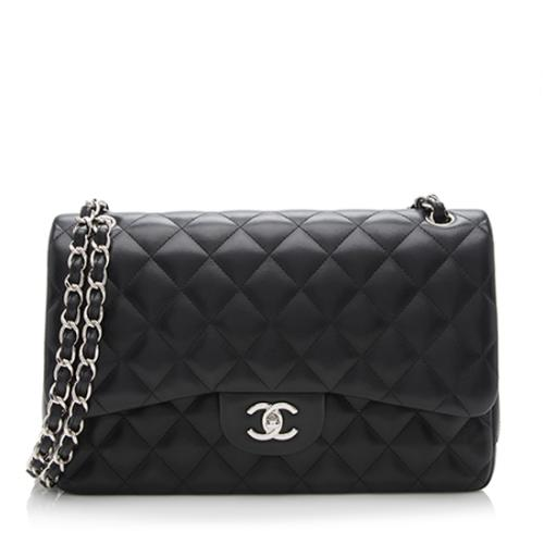 Chanel Lambskin Classic Jumbo Double Flap Bag