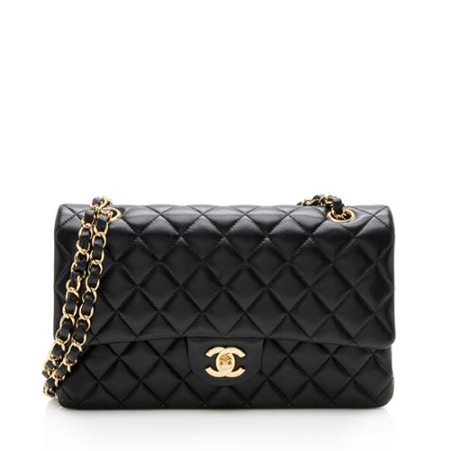 07569a1fff709 Chanel Lambskin Classic Medium Double Flap Bag