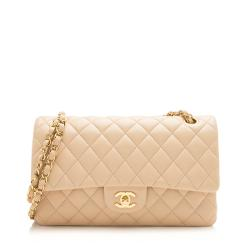 Chanel Lambskin Classic Medium Double Flap Bag