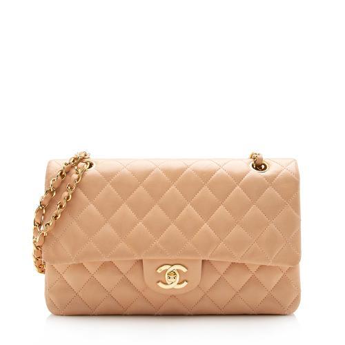 Chanel  Lambskin Classic Medium Double Flap Bag