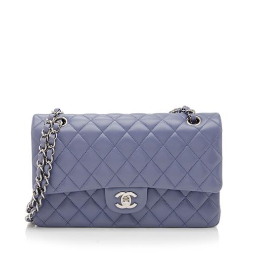 aaab3ce3c64a Chanel Lambskin Classic Medium Double Flap Bag