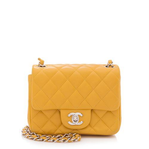Chanel Lambskin Classic Square Mini Flap Shoulder Bag