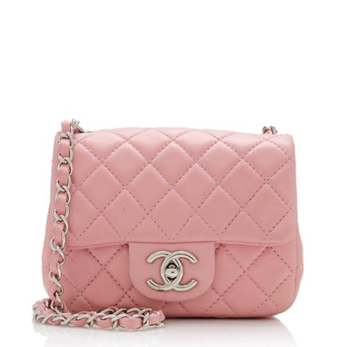 Chanel Lambskin Classic Square Mini Flap Shoulder Bag
