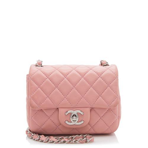 Chanel Lambskin Classic Square Mini Flap Shoulder Bag- FINAL SALE