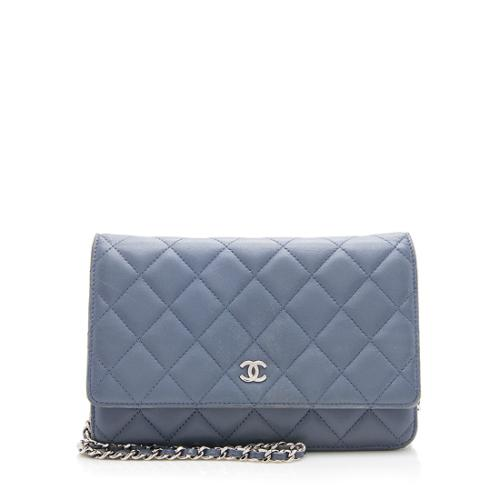 Chanel Lambskin Classic Wallet On Chain Bag