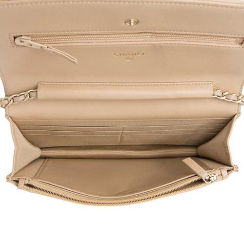Chanel Lambskin Classic Wallet On Chain Bag