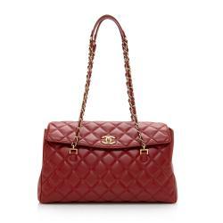 Chanel Lambskin Flap CC Shoulder Bag