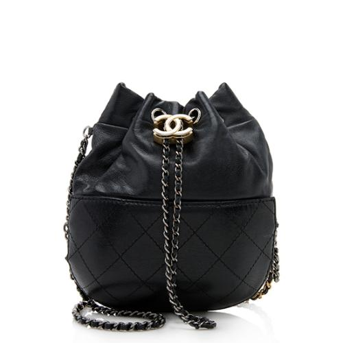 Chanel Lambskin Gabrielle Small Bucket Bag