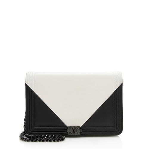 Chanel Lambskin Geometric Boy Wallet on Chain Bag