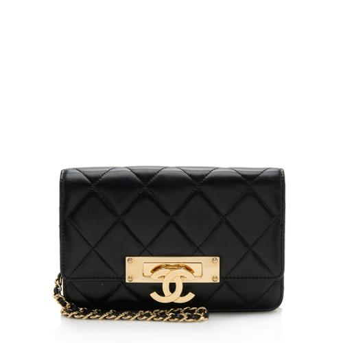 Chanel Lambskin Golden Class Wallet on Chain Bag