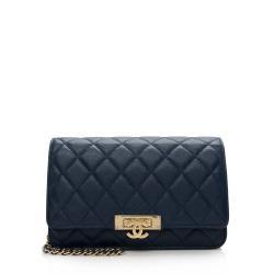 Chanel Lambskin Golden Class Wallet on Chain Bag