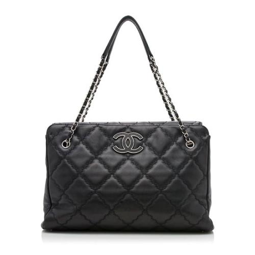 Chanel Lambskin Hampton Large Shopping Tote - FINAL SALE