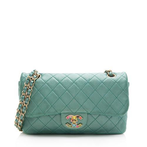 Chanel Lambskin Jewel Medium Flap Shoulder Bag