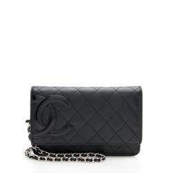 Chanel Lambskin Ligne Cambon Wallet on Chain Bag