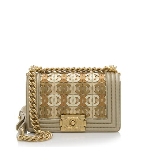 Chanel Lambskin Limited Edition CC Small Boy Bag
