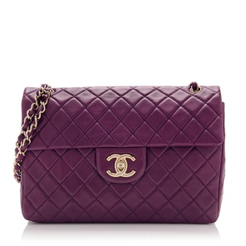 Chanel Lambskin Classic Maxi Flap Shoulder Bag