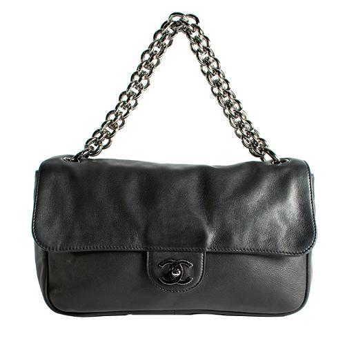 Chanel Lambskin Medium Flap Shoulder Handbag