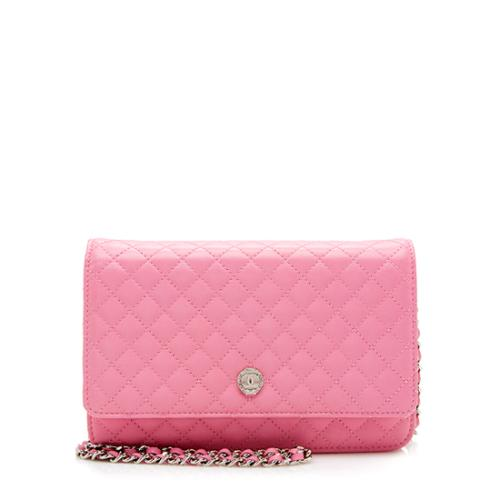 Chanel Lambskin Micro Quilted Classic Wallet on Chain Bag