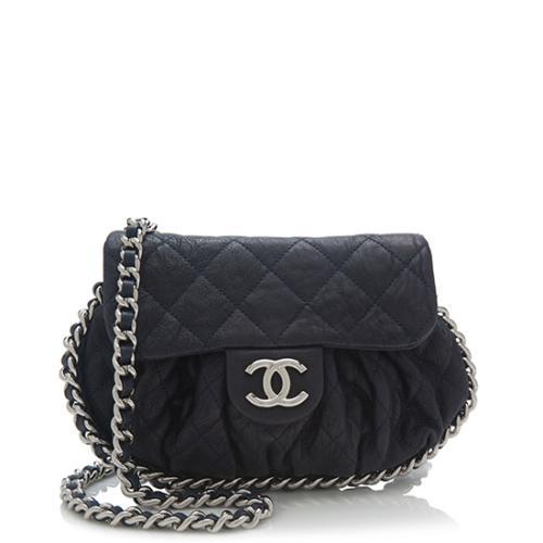 Chanel Lambskin Chain Around Mini Shoulder Bag