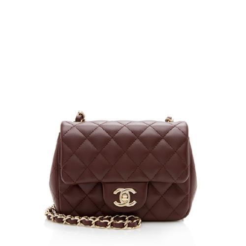 Chanel Lambskin Mini Square Flap Bag