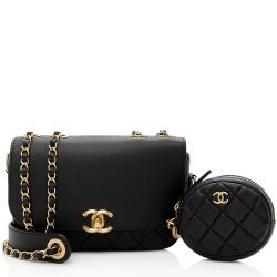 Chanel Lambskin Multi Pouching Flap and Coin Purse