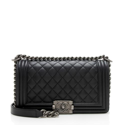 Chanel Lambskin Old Medium Boy Bag