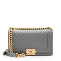 Chanel Lambskin Old Medium Boy Bag