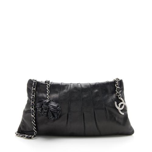Chanel Lambskin Pleated Pochette