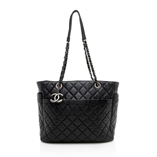 Chanel Lambskin Pocket Shopper Tote