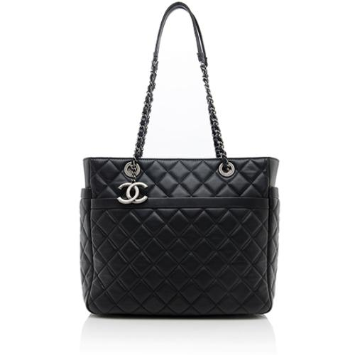 Chanel Lambskin Pocket Shopper Tote