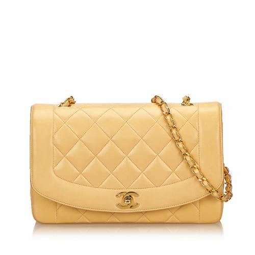 Chanel Vintage Quilted Lambskin Diana Medium Flap Bag