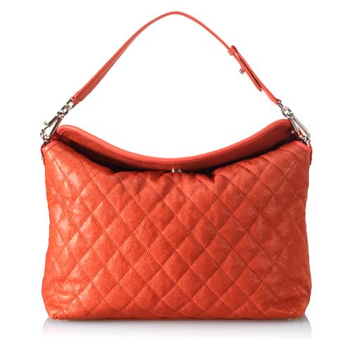 Chanel Lambskin Quilted Hobo Handbag