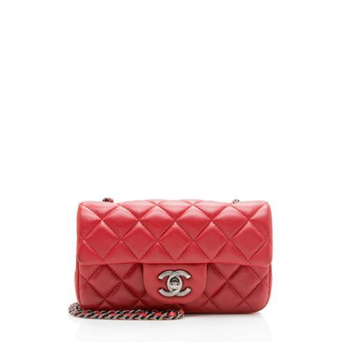 Chanel Lambskin Rectangular Extra Mini Flap Bag