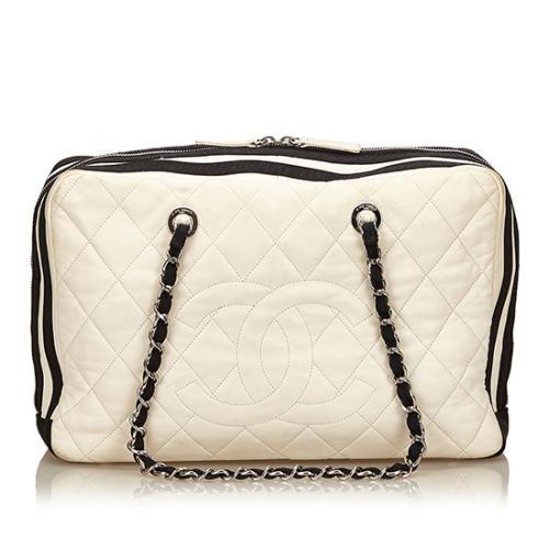Chanel Lambskin Grosgrain CC Chain Shoulder Bag