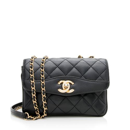 Chanel Lambskin Small Coco Vintage Flap Bag