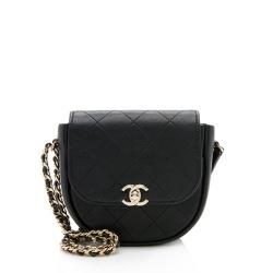 Chanel Lambskin Small Flap Messenger Bag