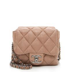 Chanel Lambskin Three Accordion Mini Flap Bag