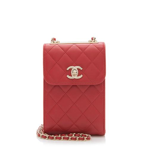 Chanel Lambskin Trendy CC Phone Holder Crossbody Bag