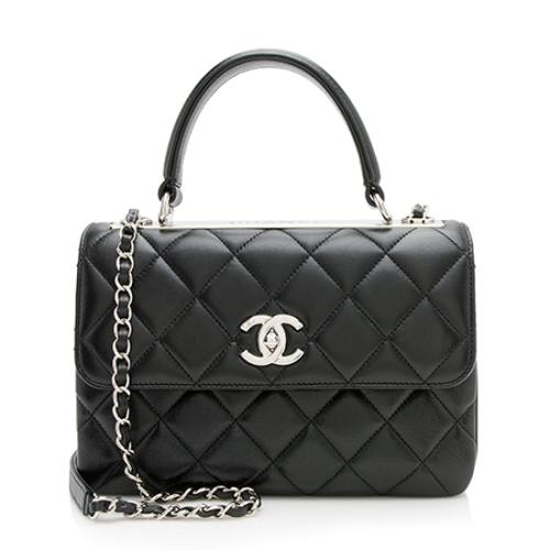 194544684720 Chanel Lambskin Trendy CC Small Top Handle Shoulder Bag