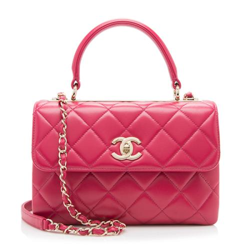 Chanel Lambskin Trendy CC Small Top Handle Shoulder Bag