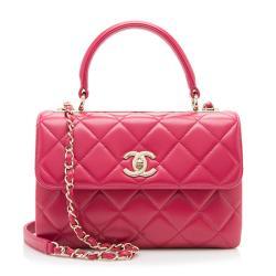 Chanel Lambskin Trendy CC Top Handle Small Shoulder Bag