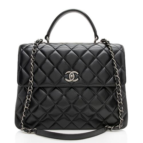 Chanel Lambskin Trendy Large Shoulder Bag - FINAL SALE