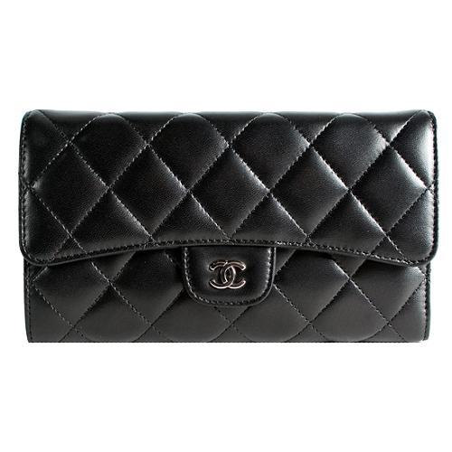Chanel Lambskin Trifold Wallet