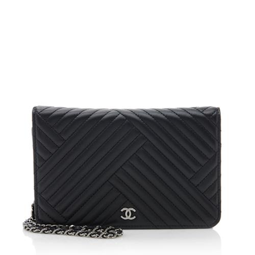Chanel Lambskin CC Crossing Wallet on Chain Bag