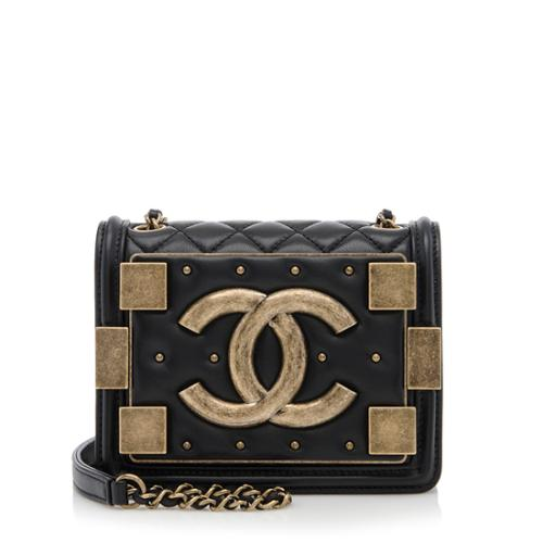 Chanel Lambskin Studded Boy Brick Flap Bag
