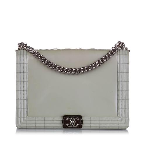 Chanel Large Boy Lambskin Leather Flap Bag
