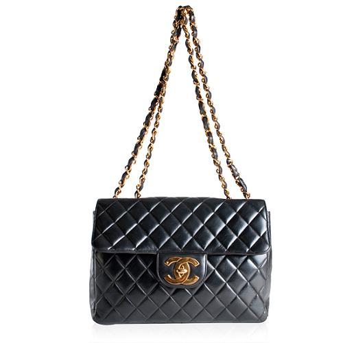 Chanel Large Classic 2.55 Flap Shoulder Handbag