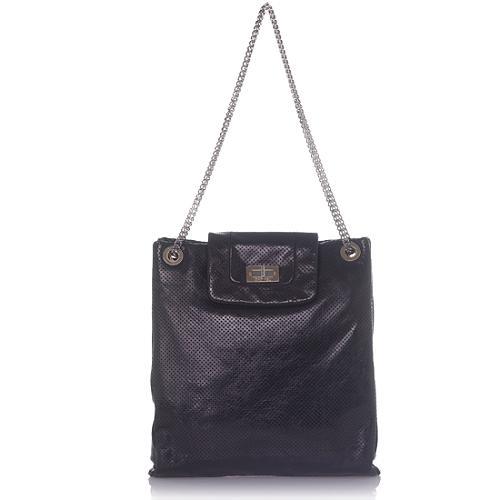 Chanel Large Drill Perforated Shoulder Handbag