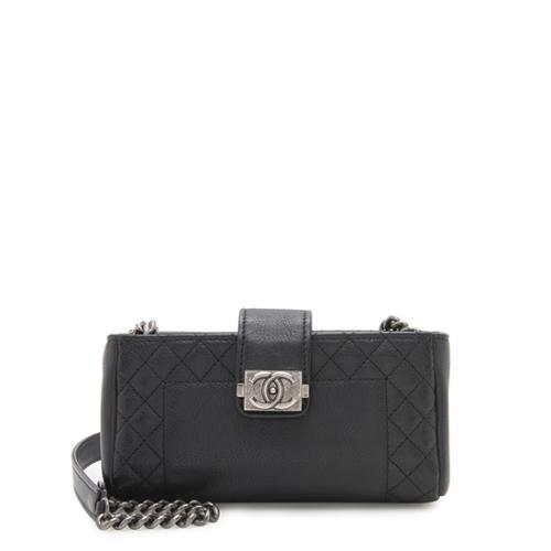 Chanel Leather Boy O Mini Clutch Crossbody Bag